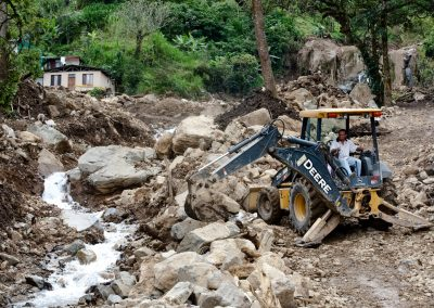 Efforts to contain the river.