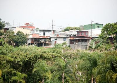 Vulnerable areas of Escazú like this one are still at risk of future disasters brought by rain and landslides.