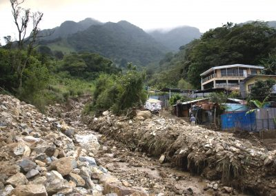 Mudslides and floods brought great pain and destruction to San Antonio de Escazú located in the Costa Rican Central Valley (Nov 2010).
