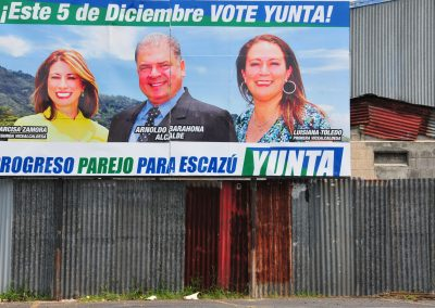 The aftermath of the mudslides is an issue that will not escape politics in the upcoming 5 December municipal elections.